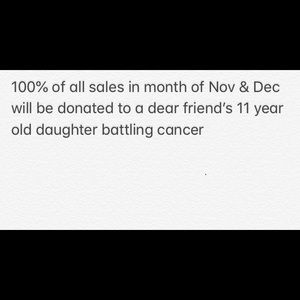 All sales for a cause!!!